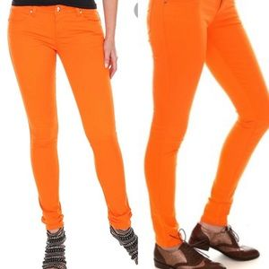 Tripp NYC Denim Orange Skinny Jeans